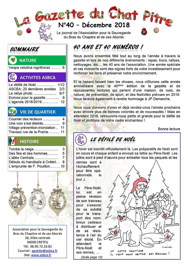 Gazette Du Chat Pitre Numero 40 Page 01