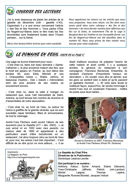 Gazette du Chat Pitre numero 44 Page 12