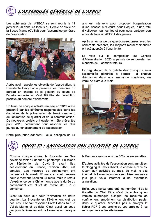 Gazette du Chat Pitre numero 44 Page 2